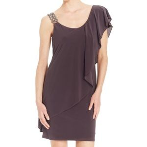 Betsy & Adam Women's Embellished One Shoulder